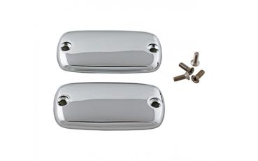 AD 15793-204P Chrome Master Cylinder Covers - Plain GL1800-GL1500