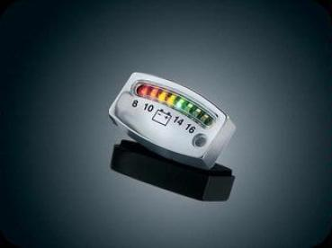 K 4219 LED battery gauge chrome