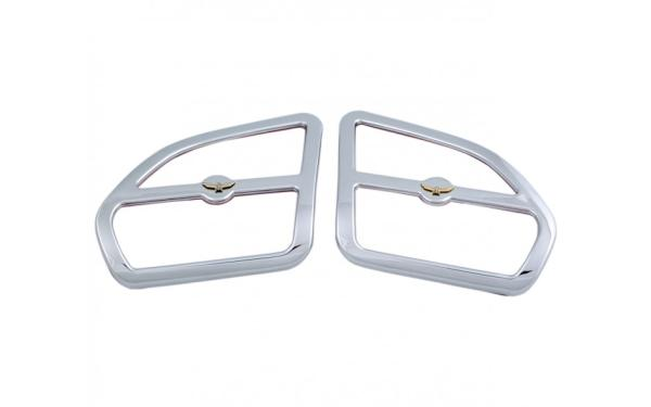 AD 45-1234 Chrome Front Speaker Grills w/Eagle Emblem GL1800 01-05