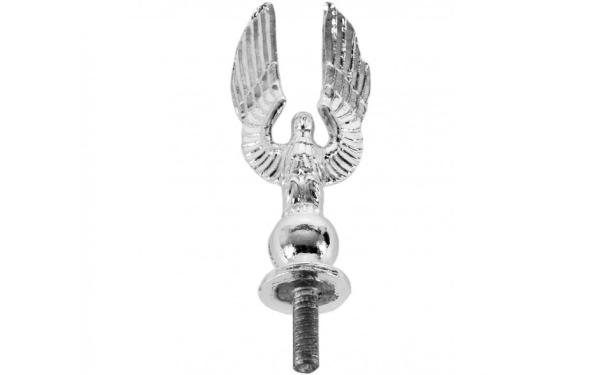 AD 678-018E Chrome Flag Pole Eagle 2 ⅜ Inch