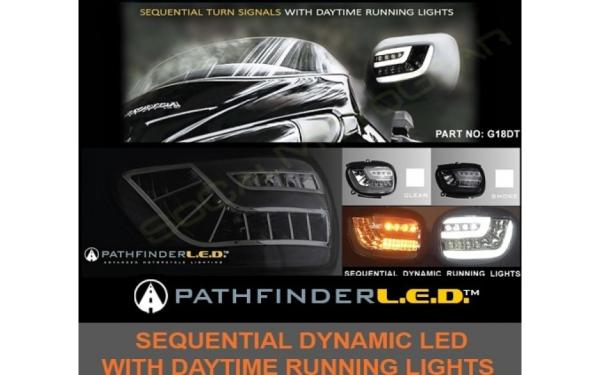 AD GL18DTC Dynamic-Sequential LED Front Indicators Lights with DRT - Clear for GL 1800